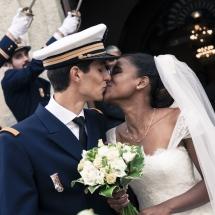 photographe mariage sortie de l'église Chamonix