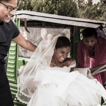 photographe mariage Chamonix départ en voiture
