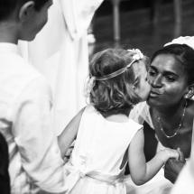 photographe mariage Chamonix cérémonie petite fille d'honneur