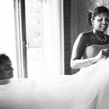 photographe mariage préparatifs Chamonix famille de la mariée
