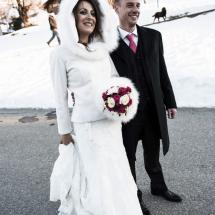 photographe mariage hiver Crest-Voland