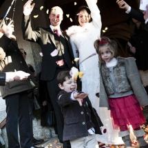 photographe mariage Crest-Voland sortie de l'église