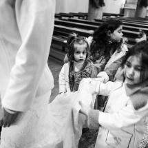 Photographe mariage cérémonie en hiver Annecy
