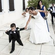 photographe mariage Thiez cérémonie civile mariée sur le parvis