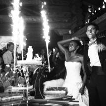 photographe mariage Chamonix Soirée pièce montée