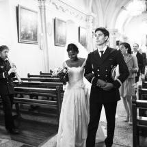 photographe mariage cérémonie Chamonix sortie de l'église
