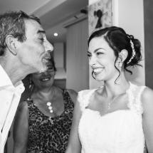 photographe mariage Thiez Cindy et son père