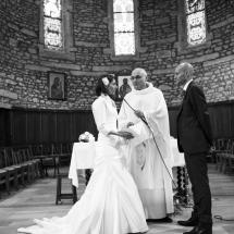 photographe mariage cérémonie à l'église Lyon
