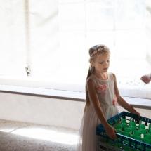 Photographe mariage Valais petite fille d'honneur